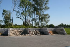 Storage pit and retaining walls from Superblock
